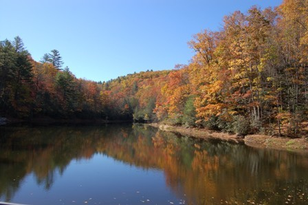 Fall on one of the trout fishing lakes